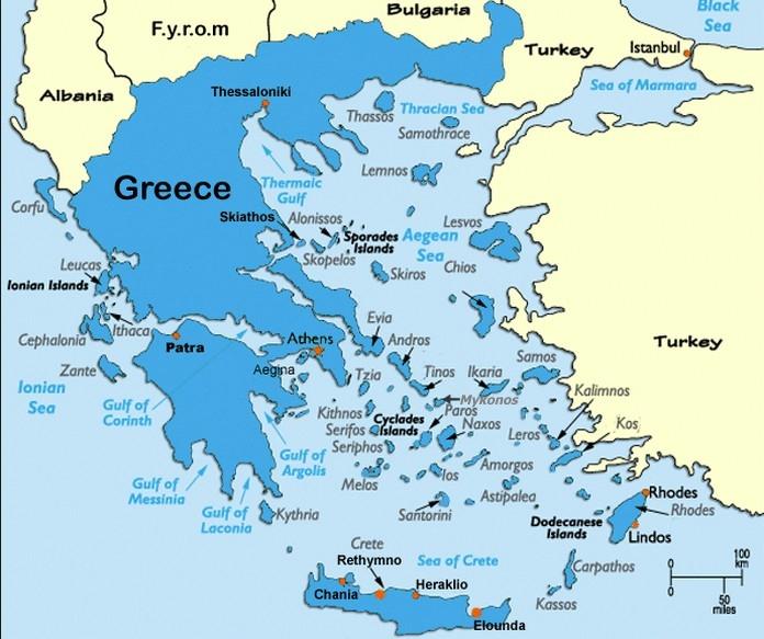 Mapa Grcke Santorini Superjoden